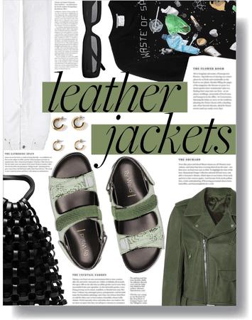 leather jacket season 💚