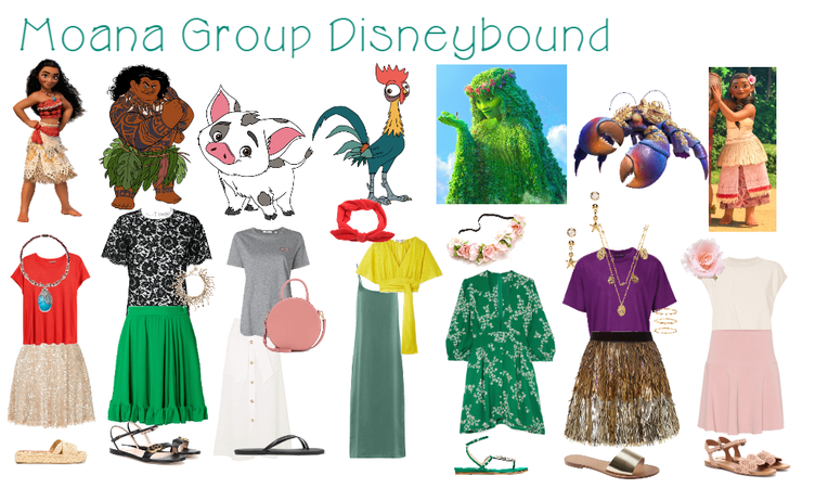 Moana Group Disneybound
