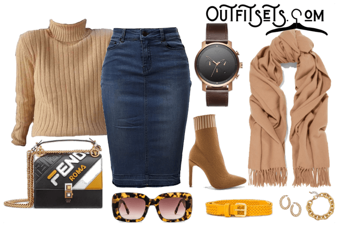 Fall Fashion - Jean Skirt