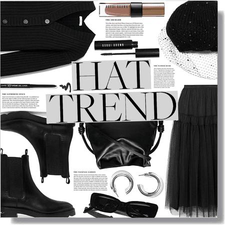 hat trend: beret 🖤