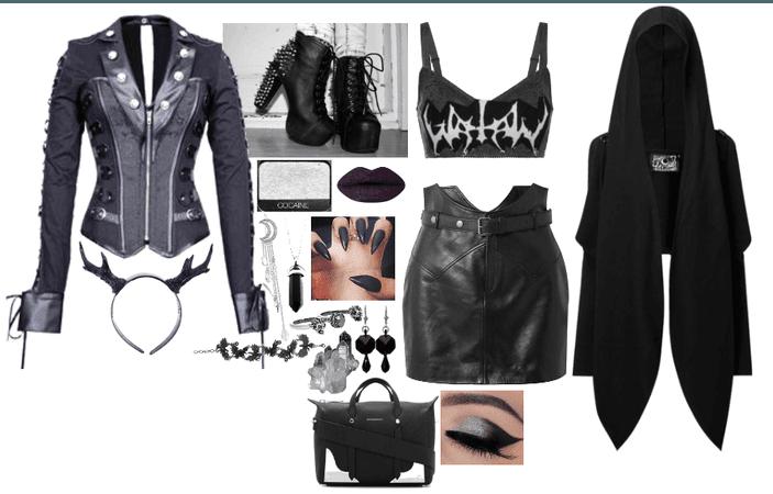 Black and metallic