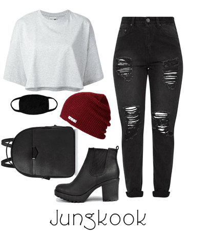 Jungkook Airport fashion inspired | BTS