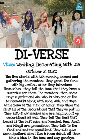DI-VERSE Vlive: Wedding Decorating With Jia