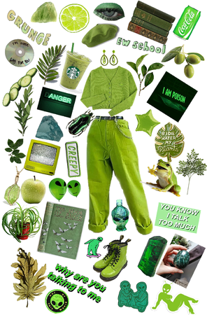 Green aesthetic 🌱👽