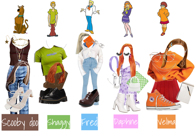 scooby doo characters as outfits