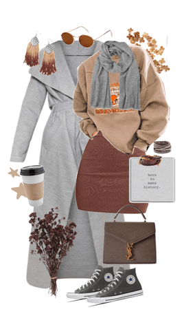 Lovely in Gray and Brown