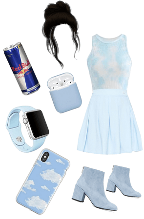 casual pastel blue