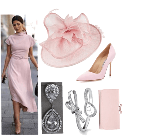 Light Pink Outfit/w Fascinator