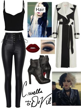 Cruella inspired outfit