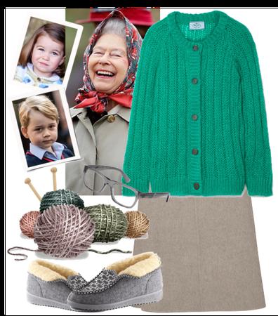 grandmother Lisa knits socks for grandchild)))