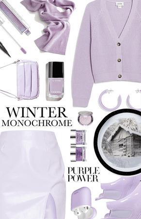 winter monochrome: lilac