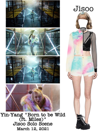 "Yin-Yang ""Born to be Wild (ft. Miles)"" M/V Jisoo Solo Scene"