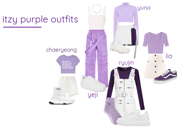 itzy purple outfits