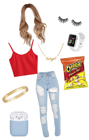 Hot-Cheeto girl outfit