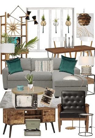 Mid Century Palm Springs Living Room