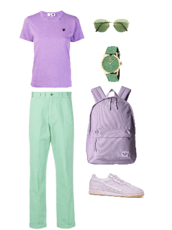 Outfit prenda superior lila