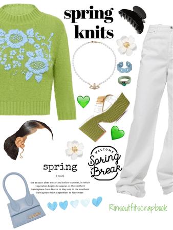 💚💙🤍Spring knit wear 💚💙🤍✨