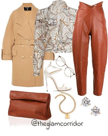 Cognac leather glam