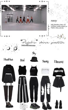 "Heartfly ""PSYCHO"" dance practice"
