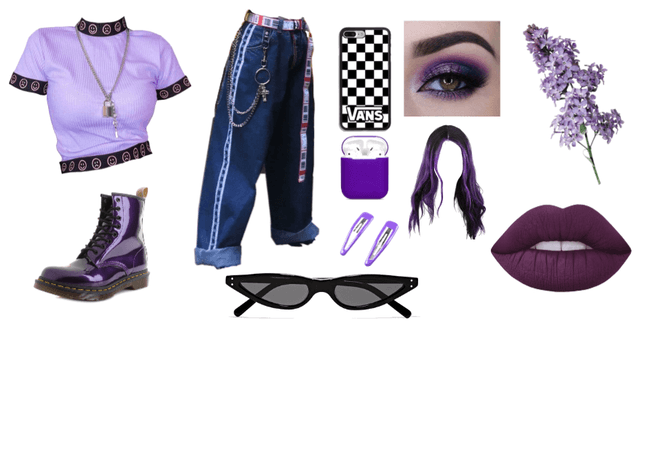 purple e girl