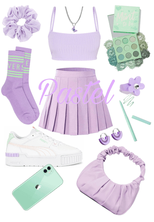 A lot of lilac + a little pastel green