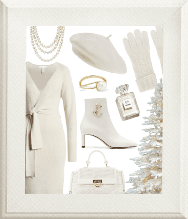 Preppy Winter White Outfit