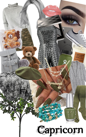 green,brown and grey/ earthy tones-Capricorn