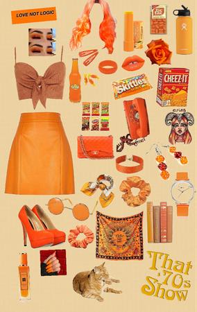 orange as a teen