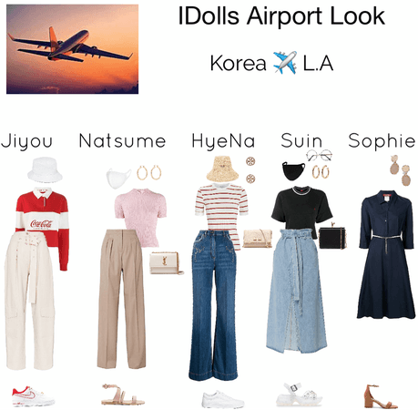 IDolls airport look for Korea to L.A