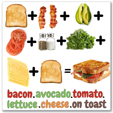 Bacon Avocado Tomato Lettuce Cheese on Toast—Sandwich Challenge
