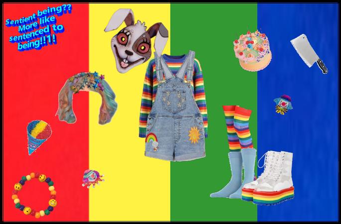 Vanny fnaf kidcore/rainbowcore