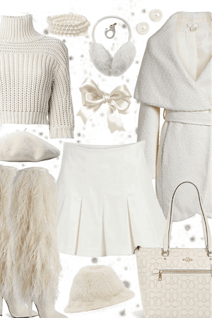 Style a Warm Coat - Winter White