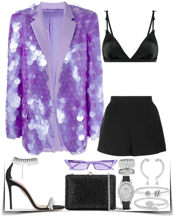 stunning purple blazer look
