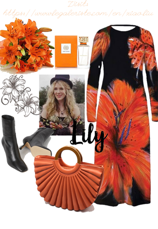 Tiger Lily. Color trend: orange