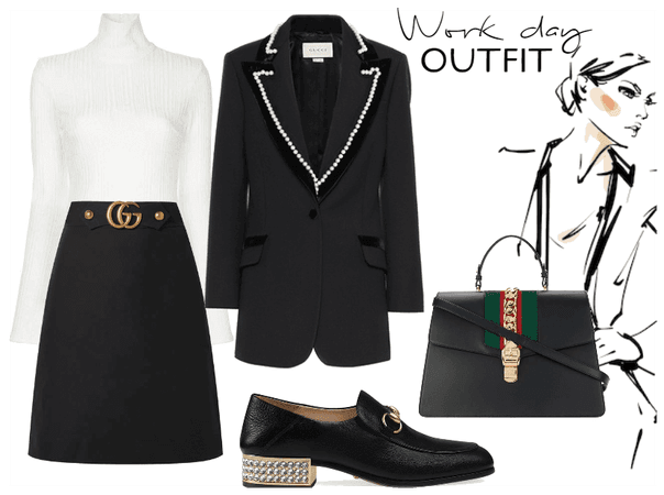 WORK DAY OUTFIT IN A GUCCI STYLE