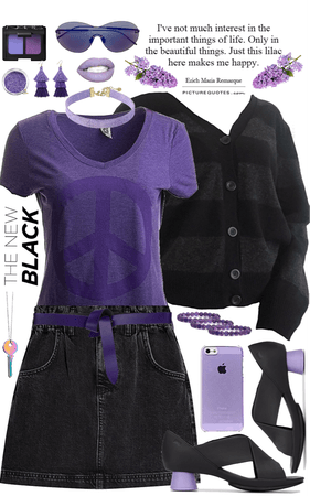 Purple, Black & Lilac