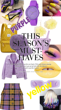 purple and yellow fellow