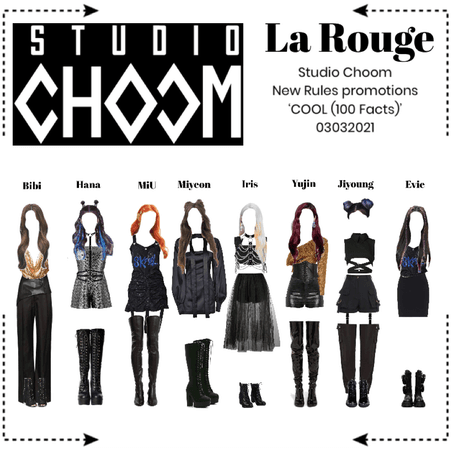 라로그 [𝗟𝗮 𝗥𝗼𝘂𝗴𝗲] - Studio Choom 'COOL (100 Facts)' (0303202-)