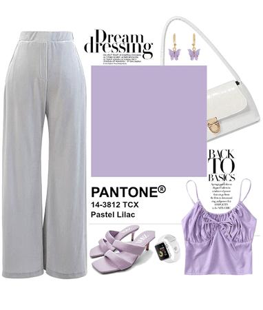 VELVET PANTS : LILAC DREAM