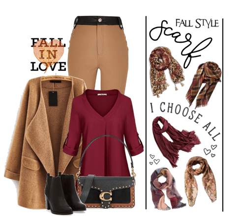 Fall in love with scarves