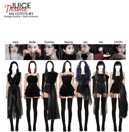 JUICE -THRONE - MV OUTFIT