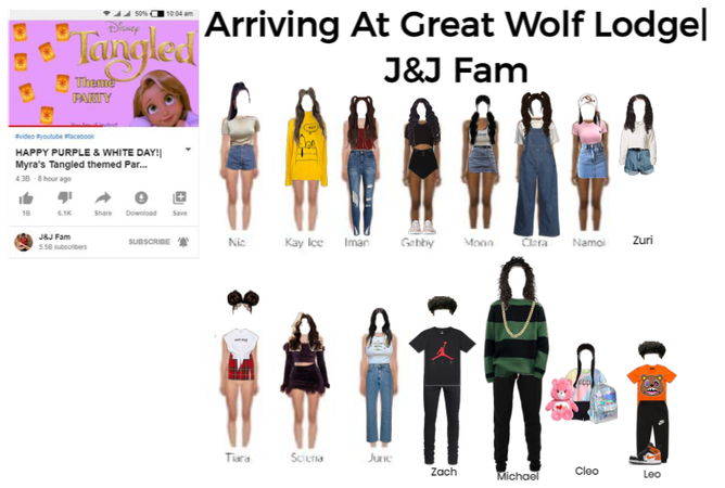 Arriving At Great Wolf Lodge| J&J FAM| Outfits
