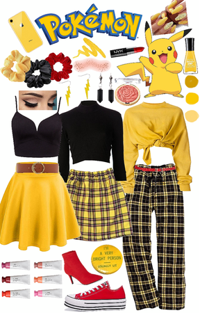 modern day Pikachu inspired look