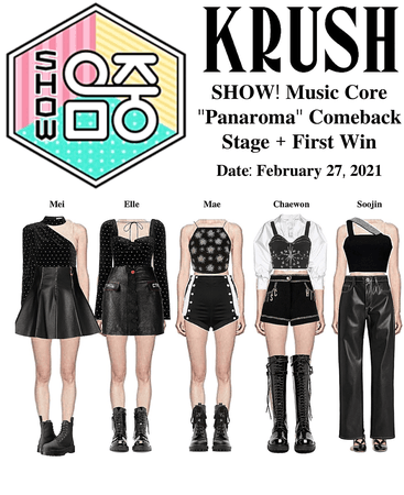 KRUSH Show! Music Core Comeback Stage + 1st Stage