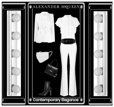 Alexander McQueen - White with Black Accents