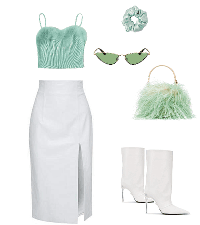 mint green look