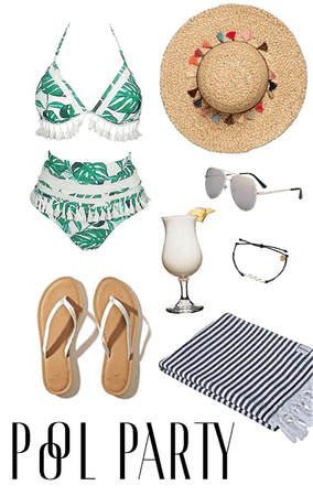 Tropical Pool Party Look
