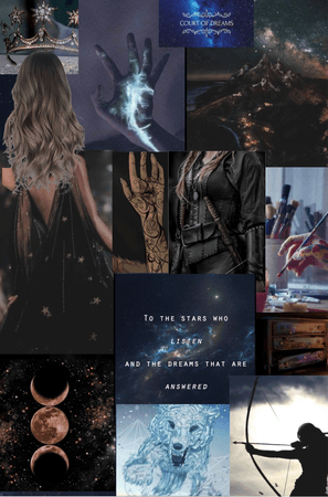 Badly done collage for Feyre Archeron