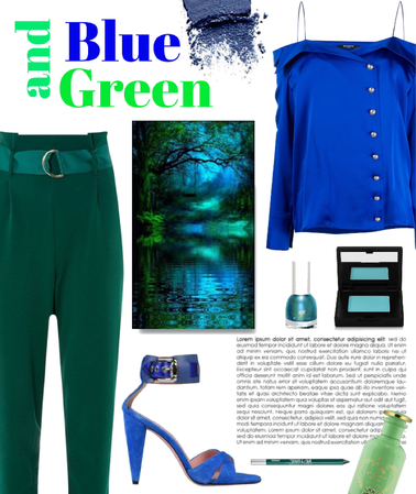 blue with a dash of green