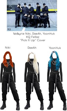 ~𝕍al𝕜yrie~ Niki, DeaAh, YoonHuk KQ Fellaz Pick It Up Cover